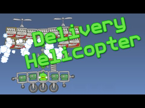 [Bad Piggies] Delivery Helicopter видео