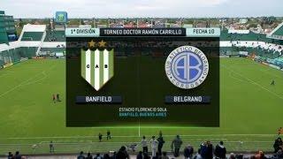 Fútbol En Vivo. Banfield - Belgrano. Fecha 10. Torneo Primera División 2014. FPT.