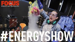 What happens when you dunk a bunch of flowers in liquid nitrogen? We go behind the scenes at London Science Museum's 'The Energy Show' to find out...