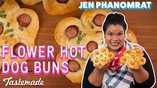 Flower Hot Dog Buns I Good Times with Jen by Tastemade