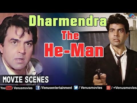 Dharmendra The He-Man | Action Scenes | Hindi Action Movies | Movie Scene Jukebox