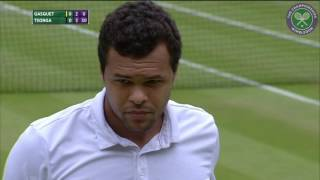 Highlights from Jo-Wilfried Tsonga's fourth round victory over Richard Gasquet. SUBSCRIBE to The Wimbledon YouTube Channel: ...