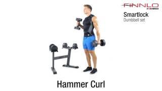 Hammer Smartlock Hantelset med ställning