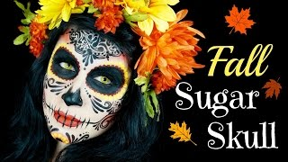 I LOVE Fall!! Thank you so much for watching!! Please don't forget to give this video a thumbs up if you enjoyed and Subscribe for more! If you like Sugar Skulls check out the video links belowWatch Purple Tiger Sugar Skull:https://www.youtube.com/watch?v=-n7bTE6QQaAWatch Halloween Minnie Mouse:https://www.youtube.com/watch?v=jTd276Zfqd8PRODUCTS USEDCamo Eyes Contacts (Yellow Block)Wolfe Face Art & FX Hydrocolor Makeup (black)Loew-Cornell round brushes (#5)Sigma Beauty FX brushes (FX6)Sonia Kashuk brush (202)BAM Stencil (1035)Star Crushed Minerals eyeshadow (Orange Sorbet & Orange Fusion)Mehron Paradise Makeup AQ (Red, Yellow, & Orange)Any black eyeshadow, red lipstick, red lip liner, & high density sponge------------------------------------------------------------------------FOLLOW MEIG: @PaintMe_SarahFB: /paintmesarahannTWEET: @PaintMe_SarahETSY: TheCozyCastle------------------------------------------------------------------------music provided by NCS: Cormak - Flavors [NCS Release]https://www.youtube.com/watch?v=DRJgj8OTIvA▽ Follow CormakSoundCloud https://soundcloud.com/cormakofficial