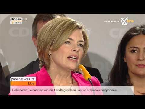 Landtagswahlen: Landtagswahl in Rheinland-Pfalz - Julia Klöckner nach ihrer Wahlniederlage am 13.03.2016