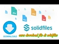 cara download file di solidfiles