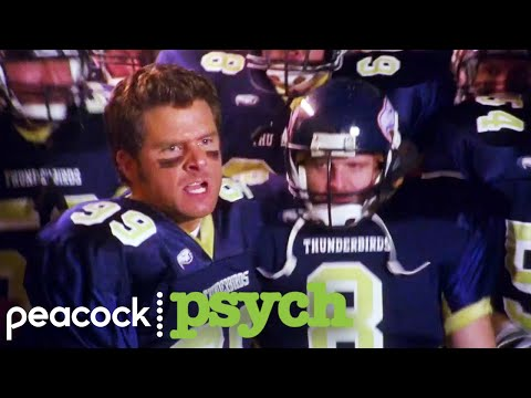 Shawn Plays Football With The Thunderbirds | Psych