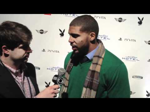Arian Foster at the Playboy Party Video