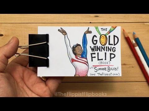 Flip Book Animation of Simone Biles GoldMedal Winning Floor Routine at the Rio