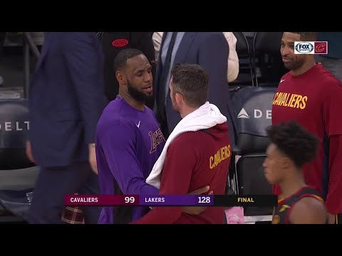 LeBron, Love, Tristan hug it out after Cavs play Lakers