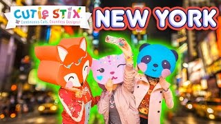 """Join the Cutie Stix in this super fun adventure of New York!From the makers of Orbeez and Pom Pom WowThe official YouTube channel of Cutie Stix""""Continuous Cuts, Countless Creations! Seriously Cute!""""1) Cut the stix to create beads. Use the CORING UNIT to core the beads.2) Create necklaces, bracelets, and more by using the threader.3) Show off your finished jewelry design. Be your own designer!From the makers of Orbeez and Pom Pom Wow by Maya ToysSUBSCRIBE:https://www.youtube.com/channel/UCHx4Hfo0-MpUEPRTflJjWLw?sub_confirmation=1Maya Toys 2016http://www.CutieStix.com"""