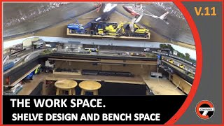 Upload Q & A for Dave at Cottesmore Junction.An overview of Old Oak Bridge layout designed to maximise work space within a work shop.