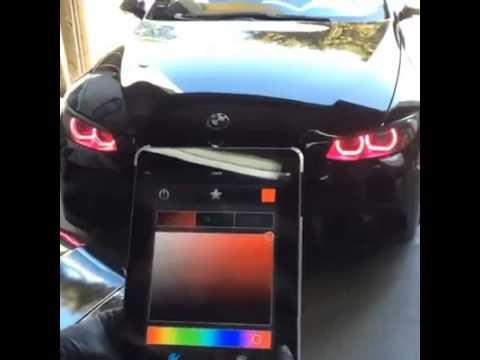 tocca lo smartphone e cambia i colori dei fari!