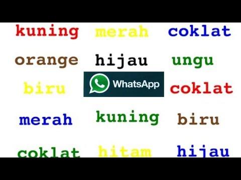 Membuat Tulisan berwarna warni di Whatsapp dan semua MEDSOS,fb,tweeter,ig,dll