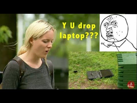 They Drop His Laptop and Break It!