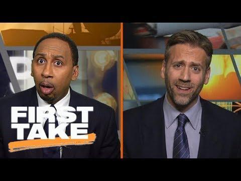 Stephen A. and Max have heated exchange arguing Deshaun Watson or Dak Prescott | First Take | ESPN (видео)