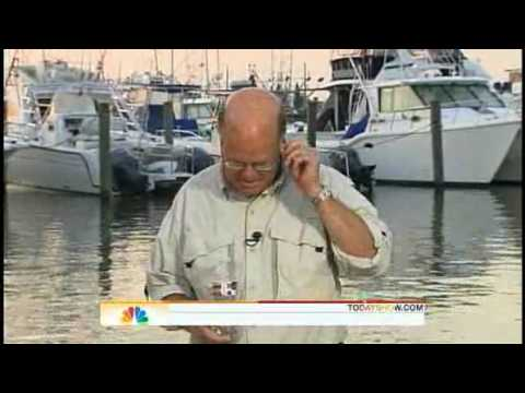Reporter swallow giant bug on air