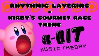 I take a look at how Kirby's Gourmet Race Theme uses different rhythmic layers to make its arrangement so exciting.Also, this is my first ever Patron Request video! Thanks to Fluxy Music for the request!Twitter: https://twitter.com/8bitMusicTheoryPatreon: https://www.patreon.com/8bitmusictheory