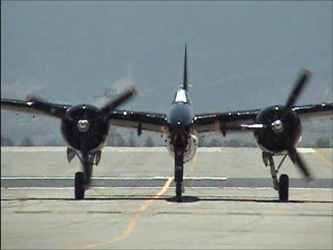 Grumman F-7F Tigercat Demonstration - 4,000+ Horsepower !