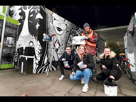Kunst statt Grusel - Schüler Projekt macht einst triste ...