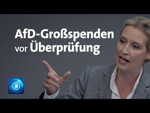 AfD: Großspenden an Weidel-Kreisverband werden überprüft