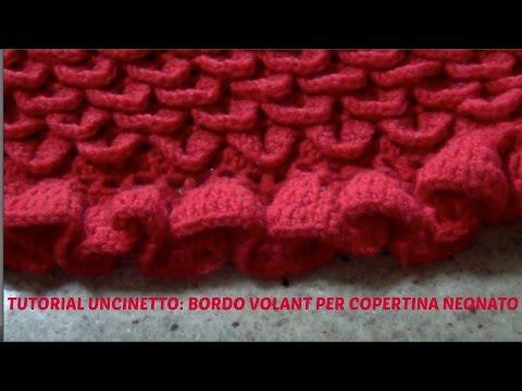 uncinetto - copertina per neonato realizzata con il punto coccodrillo