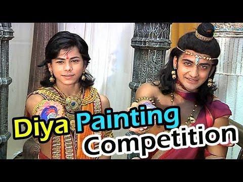 Ashoka and Sushim's diya painting competiton