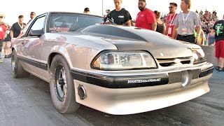 BOOSTED Fox Body Mustang - 118MM TURBO!? by 1320Video
