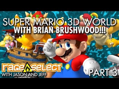 Brian - Jeff and Jason are taking on the latest threat to the Mushroom Kingdom, but how could we play the new Super Mario game without our special Wii U correspondent, BRIAN BRUSHWOOD! If you'd like...