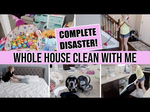 *BRAND NEW* SUPER MESSY COMPLETE DISASTER WHOLE HOUSE CLEAN WITH ME 2019 | MAJOR CLEANING MOTIVATION