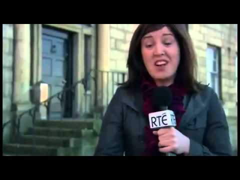 Ireland news report.  Talking about cowboys and urinating in a hat