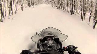 8. Polaris Voyager 550 Fresh powder run and fish!