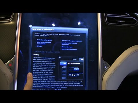 Tesla Model S firmware 6.0 review and demo