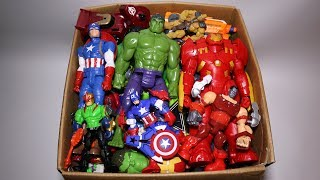Box of Toys: Marvel Mashers, Cars, Hulk, Iron Man, Captain America Action Figures and More