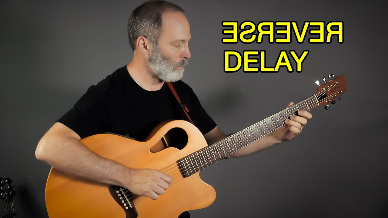 Acoustic Baritone Guitar Loves EHX Grand Canyon Reverse Delay!
