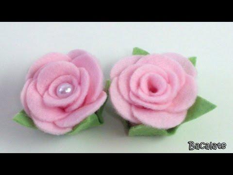 come creare delle rose in feltro