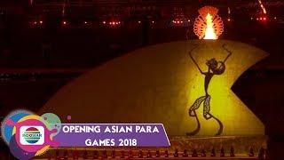 Download Video TAKJUB! Penyalaan Obor Asian Para Games 2018 oleh Wayang Raksasa MP3 3GP MP4