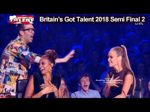 Magus Utopia SCARES AMANDA and X BUZZER INTRUDER Britain's Got Talent 2018 Semi Final 2 BGT S12E09