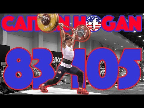 Caitlin Hogan Heavy Training (83kg Snatch + 105kg Clean And Jerk + 125kg FS) - 2017 WWC [4k 60]