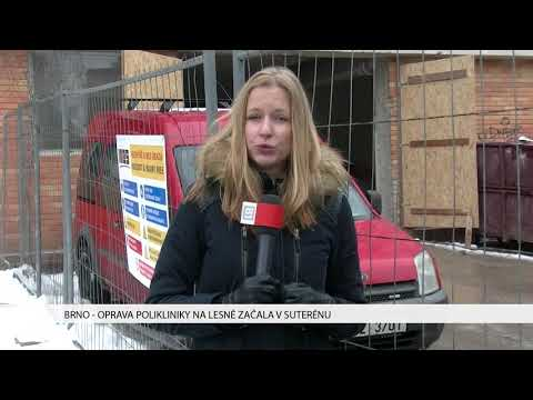 TV Brno 1: 18.1.2017 Oprava Polikliniky na Lesné začala v suterénu.
