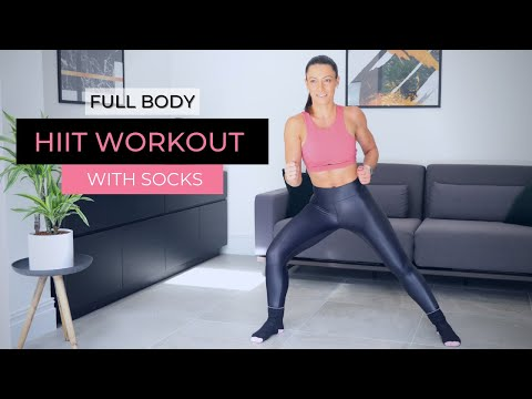 FULL BODY Sock Sliders Workout At Home | Low Impact HIIT Training | No Equipment