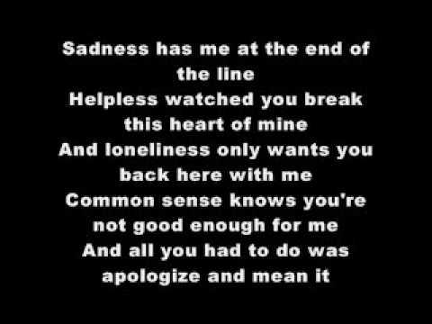 never again with lyrics