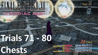 Final Fantasy XII The Zodiac Age - Trial Mode Stage 71 - 80 with Chests (PS4)If you see your copyright infringed by this Video, tell me and I will take down the video immediately. No need to strike my channelSupport: https://youtube.streamlabs.com/meloo#/or https://www.patreon.com/Meloo