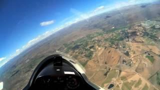 Alexandra New Zealand  city pictures gallery : Trial glider flight at Alexandra, New Zealand