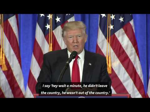 Defiant President-elect Donald Trump slams fake news