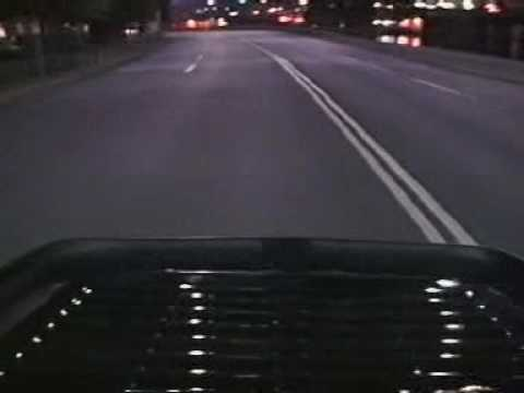 911 Turbo speeding through Stockholm at night