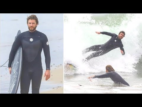 EXCLUSIVE - Liam Hemsworth Gets Completely DESTROYED By The Ocean Waves