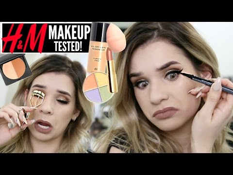 FULL FACE Using ONLY H&M Makeup?! Cheap Products TESTED! | WORTH IT or TOSS IT?!