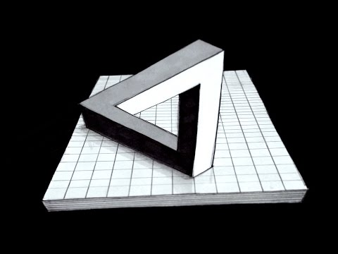 How to Draw The Impossible Triangle as an Anamorphic Illusion