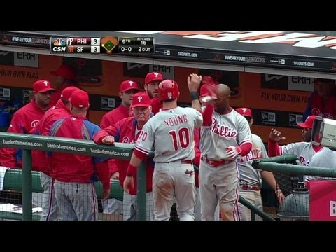 Video: PHI@SF: Young ties game in ninth with a sacrifice fly